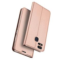 Housse Portefeuille Livre Cuir pour Asus Zenfone 3 Zoom Or Rose