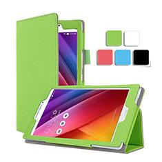 Housse Portefeuille Livre Cuir pour Asus ZenPad C 7.0 Z170CG Vert