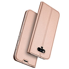 Housse Portefeuille Livre Cuir pour Huawei Honor Magic Or Rose