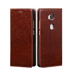 Housse Portefeuille Livre Cuir pour Huawei Honor X5 Marron