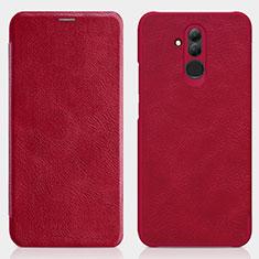 Housse Portefeuille Livre Cuir pour Huawei Maimang 7 Rouge
