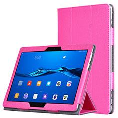 Housse Portefeuille Livre Cuir pour Huawei MediaPad M3 Lite Rose Rouge