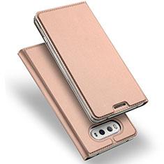 Housse Portefeuille Livre Cuir pour LG V20 Or Rose