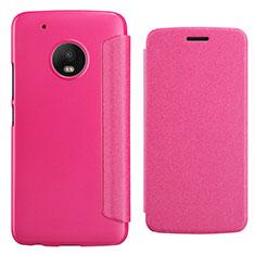 Housse Portefeuille Livre Cuir pour Motorola Moto G5 Plus Rouge