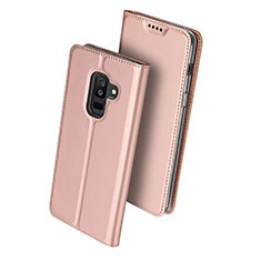 Housse Portefeuille Livre Cuir pour Samsung Galaxy A9 Star Lite Rose