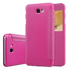 Housse Portefeuille Livre Cuir pour Samsung Galaxy J5 Prime G570F Rose Rouge