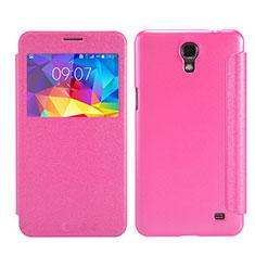 Housse Portefeuille Livre Cuir pour Samsung Galaxy Mega 2 G7508Q Rose Rouge