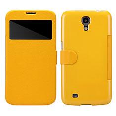 Housse Portefeuille Livre Cuir pour Samsung Galaxy Mega 6.3 i9200 i9205 Jaune