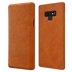 Housse Portefeuille Livre Cuir pour Samsung Galaxy Note 9 Marron