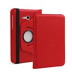 Housse Portefeuille Livre Cuir pour Samsung Galaxy Tab 3 Lite 7.0 T110 T113 Rouge