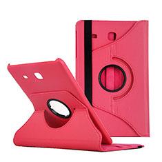 Housse Portefeuille Livre Cuir pour Samsung Galaxy Tab E 9.6 T560 T561 Rouge