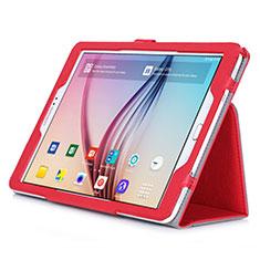Housse Portefeuille Livre Cuir pour Samsung Galaxy Tab S2 9.7 SM-T810 SM-T815 Rouge