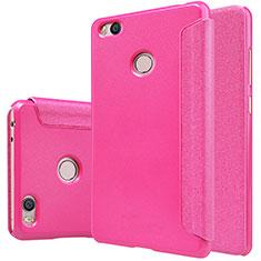 Housse Portefeuille Livre Cuir pour Xiaomi Mi 4S Rose Rouge