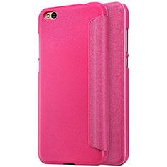 Housse Portefeuille Livre Cuir pour Xiaomi Mi 5C Rose Rouge