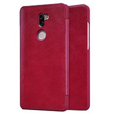 Housse Portefeuille Livre Cuir pour Xiaomi Mi 5S Plus Rouge