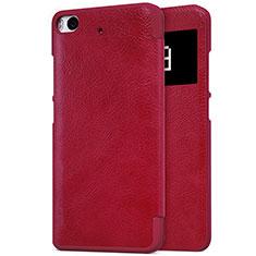 Housse Portefeuille Livre Cuir pour Xiaomi Mi 5S Rouge