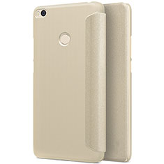 Housse Portefeuille Livre Cuir pour Xiaomi Mi Max 2 Or