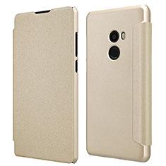 Housse Portefeuille Livre Cuir pour Xiaomi Mi Mix 2 Or