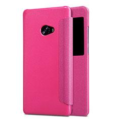 Housse Portefeuille Livre Cuir pour Xiaomi Mi Note 2 Rose Rouge