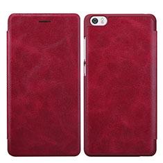 Housse Portefeuille Livre Cuir pour Xiaomi Mi Note Rouge