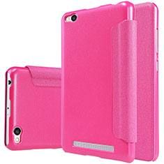 Housse Portefeuille Livre Cuir pour Xiaomi Redmi 3 Rose Rouge