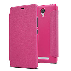 Housse Portefeuille Livre Cuir pour Xiaomi Redmi Note 2 Rose Rouge