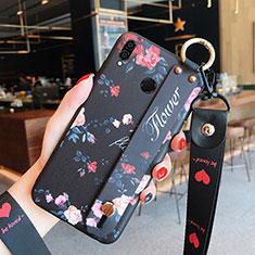 Housse Silicone Fleurs Souple Couleur Unie pour Huawei Honor 8X Mixte