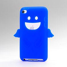 Housse Silicone Souple Ange pour Apple iPod Touch 4 Bleu