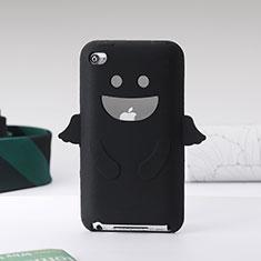 Housse Silicone Souple Ange pour Apple iPod Touch 4 Noir
