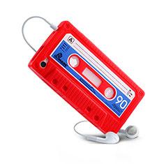 Housse Silicone Souple Cassette pour Apple iPhone 4 Rouge