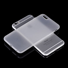 Housse Silicone Souple Mat pour Apple iPhone 6 Plus Blanc