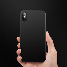 Housse Silicone Souple Mat pour Apple iPhone Xs Noir