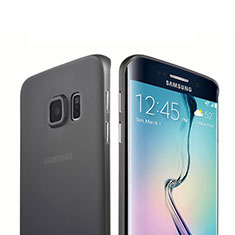 Housse Silicone Souple Mat pour Samsung Galaxy S6 Edge SM-G925 Noir