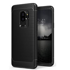 Housse Silicone Souple Mat pour Samsung Galaxy S9 Plus Noir