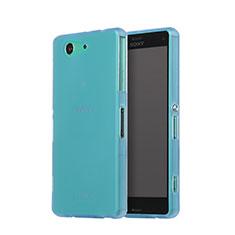 Housse Silicone Souple Mat pour Sony Xperia Z3 Compact Bleu Ciel