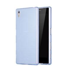 Housse Silicone Souple Mat pour Sony Xperia Z5 Bleu