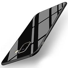 Housse Silicone Souple Miroir pour Samsung Galaxy A8+ A8 Plus (2018) A730F Noir