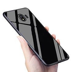 Housse Silicone Souple Miroir pour Samsung Galaxy J2 Pro (2018) J250F Noir