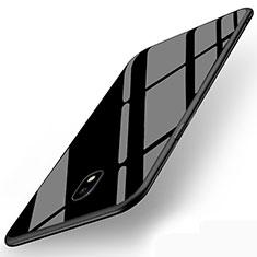 Housse Silicone Souple Miroir pour Samsung Galaxy J5 (2017) SM-J750F Noir
