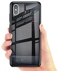 Housse Silicone Souple Miroir pour Xiaomi Mi 8 Screen Fingerprint Edition Noir