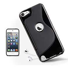 Housse Silicone Souple Transparente Vague S-Line pour Apple iPod Touch 5 Noir