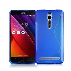 Housse Silicone Souple Transparente Vague S-Line pour Asus Zenfone 2 ZE551ML ZE550ML Bleu