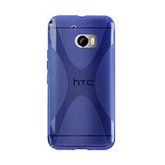Housse Silicone Souple Transparente Vague X-Line pour HTC 10 One M10 Bleu