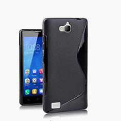 Housse Silicone Souple Vague S-Line pour Huawei Honor 3C Noir