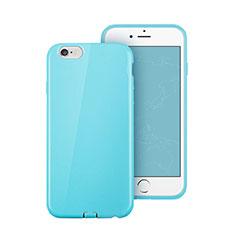 Housse Silicone TPU Souple Couleur Unie pour Apple iPhone 6 Plus Bleu Ciel