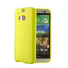 Housse Silicone TPU Souple Couleur Unie pour HTC One M8 Vert