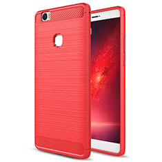 Housse Silicone TPU Souple Couleur Unie pour Huawei Honor Note 8 Rouge