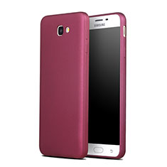 Housse Silicone TPU Souple Couleur Unie pour Samsung Galaxy J7 Prime Rouge