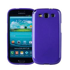 Housse Silicone TPU Souple Couleur Unie pour Samsung Galaxy S3 4G i9305 Violet