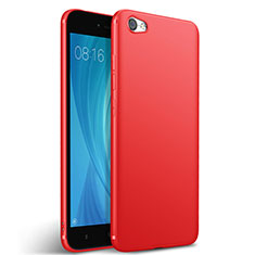 Housse Silicone TPU Souple Couleur Unie pour Xiaomi Redmi Note 5A Standard Edition Rouge